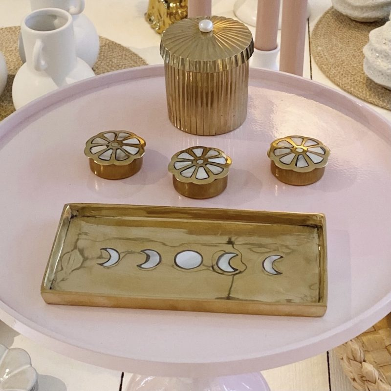 Handmade Mother Of Pearl Moon Phase Dish